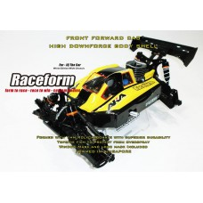 RCF0001 RaceformBodies High Downforce bodyshell for JQ the Car White Edition
