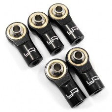 YA-0550BK - Aluminum M3 Rod Ends (5pcs) Black