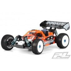 PL3400-00 Proline High Downforce BullDog Clear Body for Team Associated RC8.2