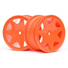 100623 - ULTRA 7 WHEELS ORANGE 35mm (2pcs)