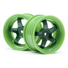 111090 - WORK MEISTER S1 WHEEL GREEN (3MM OFFSET/2PCS)