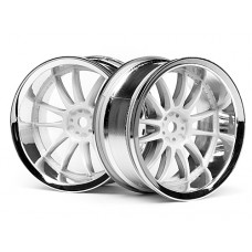 3284 - WORK XSA 02C WHEEL 26mm CHROME/WHITE (6mm OFFSET)