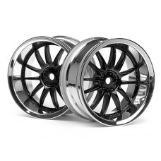 3287 - WORK XSA 02C WHEEL 26mm CHROME/BLACK (6mm OFFSET)