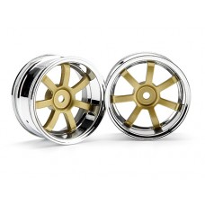 3320 - RAYS GRAM LIGHTS 57S-PRO CHROME/GOLD (6mm OFFSET)