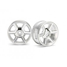 33471 GT WHEEL SILVER (6MM OFFSET/2PCS