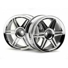 3802 - 12 SPOKE CORSA WHEEL CHROME 26MM (3MM OFFSET)